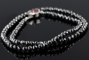 Handmade Black Diamond Beads Necklace from India