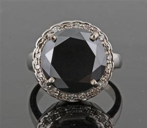 Customized Black Diamond Ring with Rose Cut Diamonds